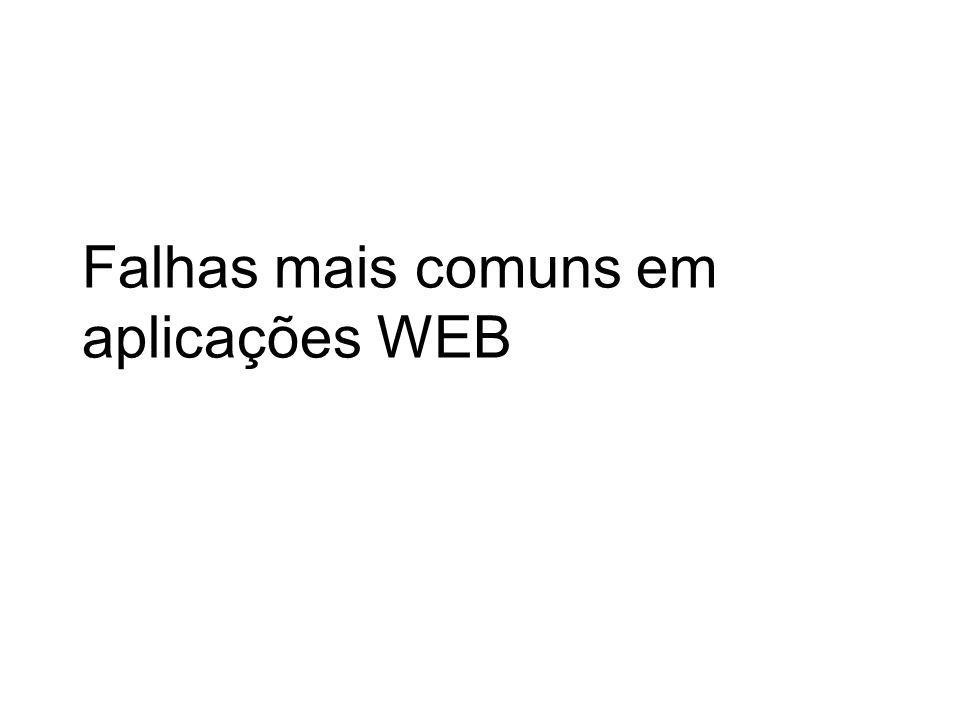 SQL Injection – Problemas Esperado: Username: doug Password: p@$$w0rd SELECT COUNT(*) FROM Users WHERE username= doug and password= p@$$w0rd Não esperado: Username: OR 1=1 -- Password: SELECT COUNT(*) FROM Users WHERE username= OR 1=1 -- and password=