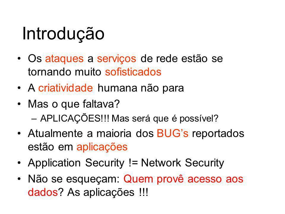 XSS – Como o atacante depura Pode colocar uma mensagem no post alert(this is vulnerable) A aplicação retorna a sua submissão –