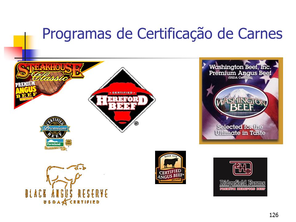 126 Programas de Certificação de Carnes