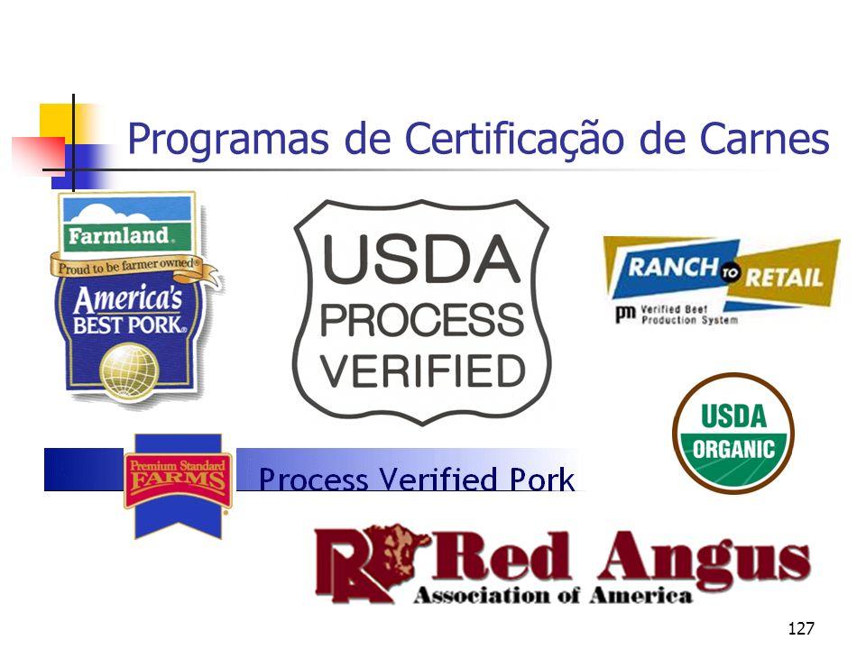 127 Programas de Certificação de Carnes