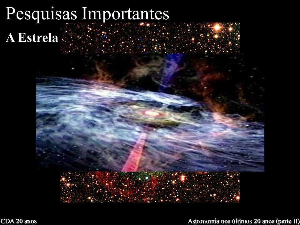 CDA 20 anos Astronomia nos últimos 20 anos (parte II) A Estrela mais distante Pesquisas Importantes