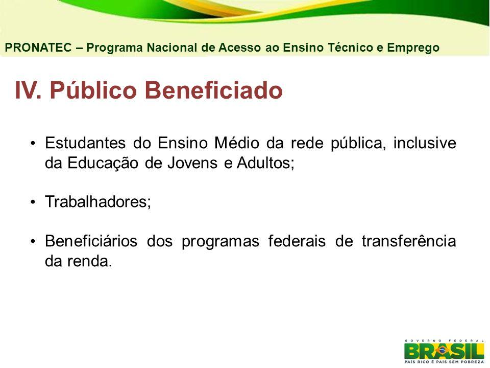 5) Expansão da Rede Federal de EPCT Objetivos: Ampliar a oferta de vagas na rede federal de EPCT com as seguintes prioridades: Territórios da Cidadania, escola de fronteira, cidades pólo ou com mais de 50 mil habitantes.