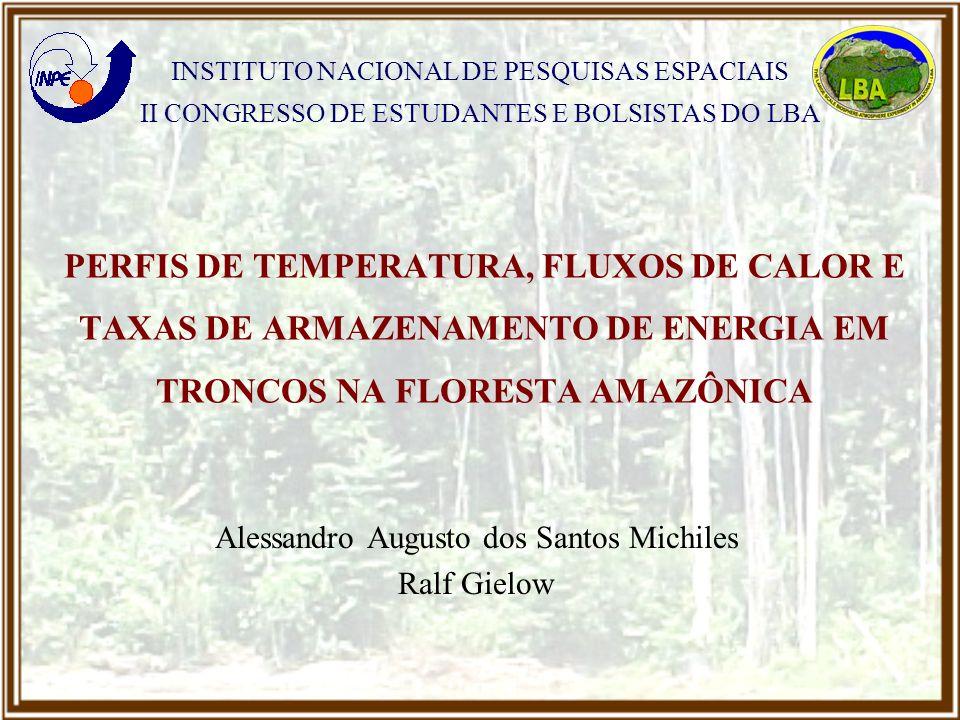 2 A taxa de armazenamento de energia na biomassa (TAEB) é composta por 6 termos II CEB Perfis, Fluxos e Taxas de Armazenamento em Troncos Uma vez que 60% da biomassa aérea é composta de troncos, mais da metade da TAEB é devido aos troncos A taxa de armazenamento de energia nos troncos (TAET) é o termo mais significativo e de obtenção mais complexa INTRODUÇÃO