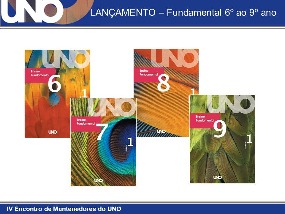 IV Encontro de Mantenedores do UNO LANÇAMENTO – Fundamental 6º ao 9º ano
