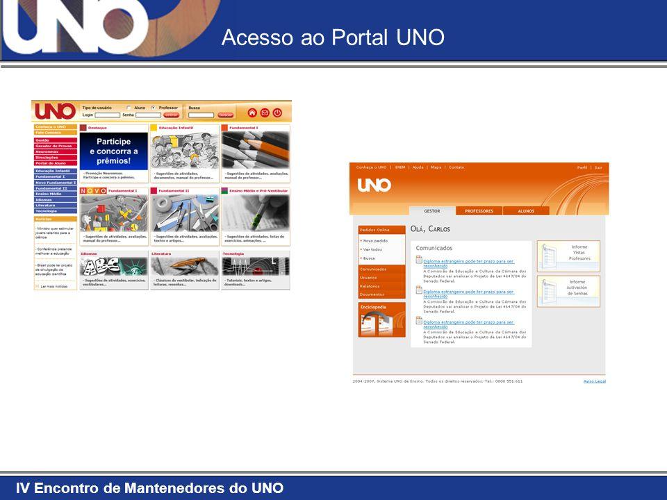 IV Encontro de Mantenedores do UNO Acesso ao Portal UNO