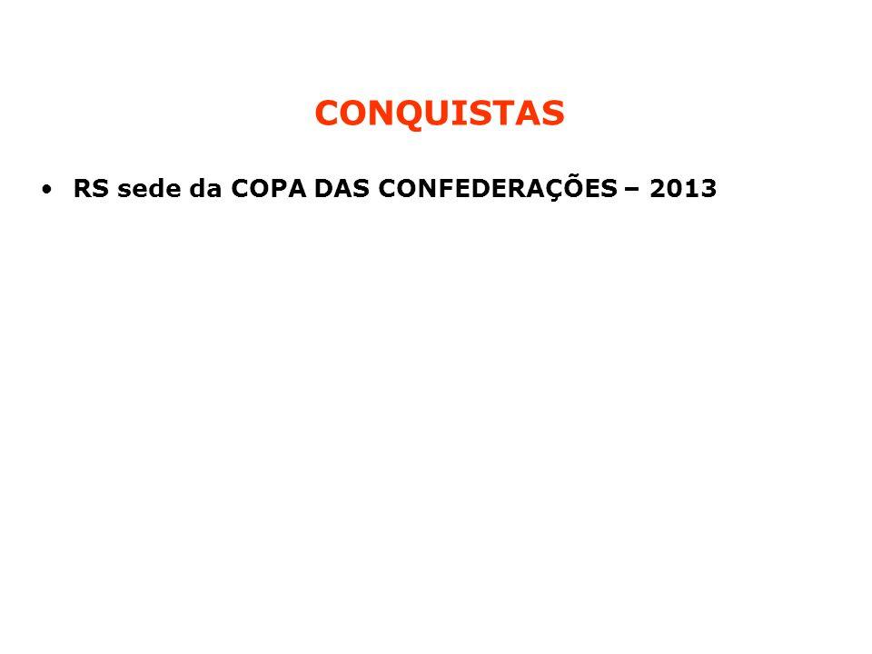 RS sede da COPA DAS CONFEDERAÇÕES – 2013 CONQUISTAS