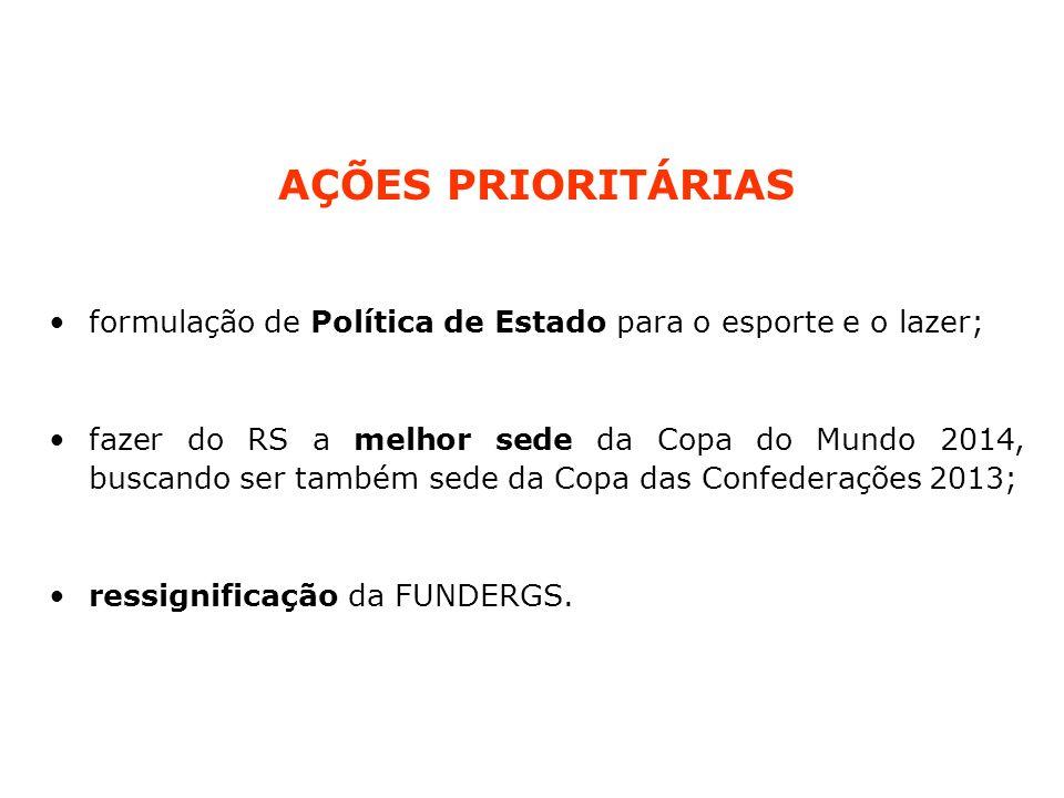 CONQUISTAS MARCOS HISTÓRICOS: Lei 13.601 de 01/01/2011 – institui a Secretaria Estadual do Esporte e do Lazer.