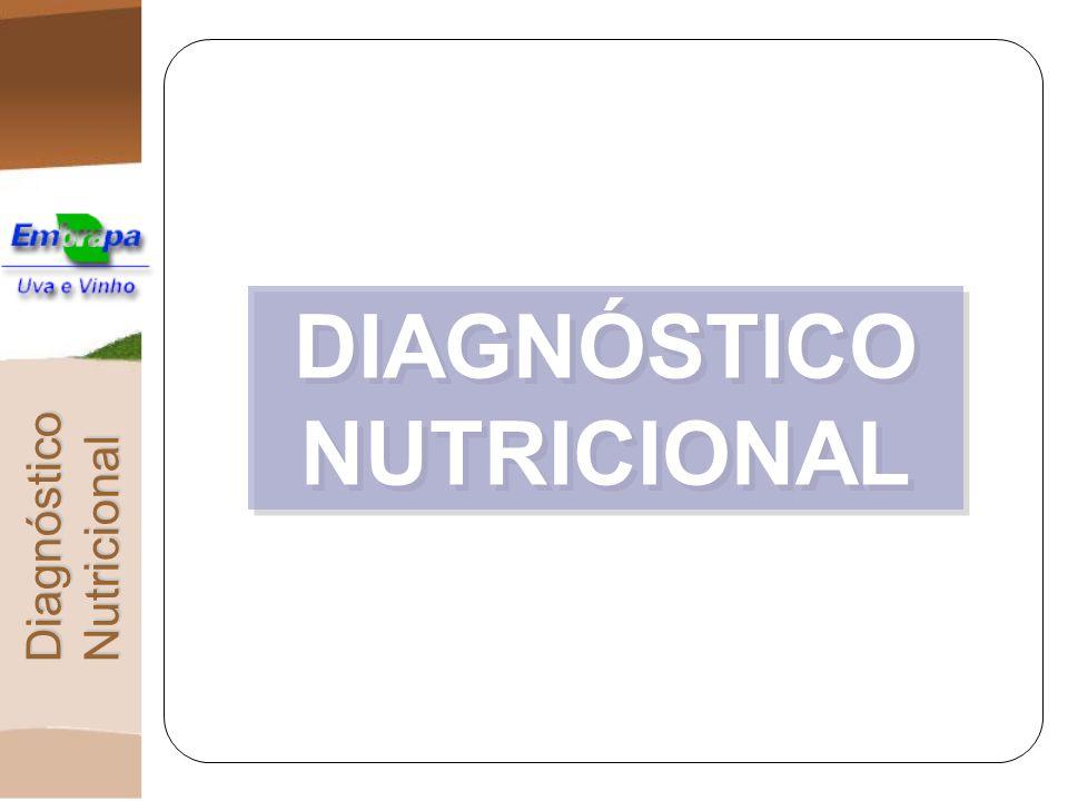 Método DRIS – Índices DRIS INTERPRETAÇÃO DOS ÍNDICES DRIS ÍNDICE DRIS ÍNDICE DRIS = OU PRÓXIMO DE ZERO: EQUILÍBRIO >> 0 : EXCESSO (excesso relativo aos demais nutrientes) << 0 : INSUFICIÊNCIA (insuficiência relativa aos demais nutrientes) IBN OU IBNm IBN OU IBNm = OU PRÓXIMO ZERO: BOA NUTRIÇÃO GLOBAL >> 0: PÉSSIMA NUTRIÇÃO GLOBAL ORDEM DE LIMITAÇÃO ORDEM DE LIMITAÇÃO grau de limitação nutricional de cada nutriente DRIS Interpretação