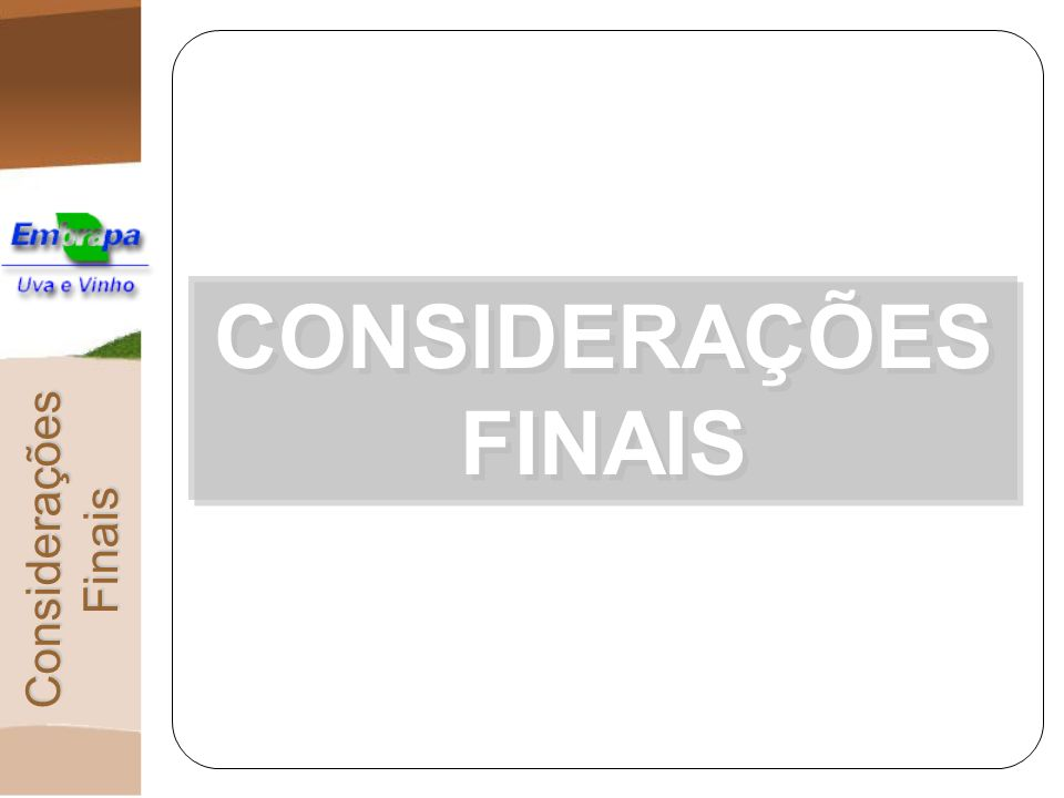 CONSIDERAÇÕES FINAIS Considerações Finais
