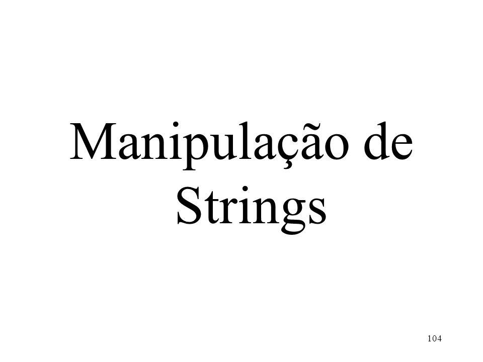 Manipulação de Strings 104