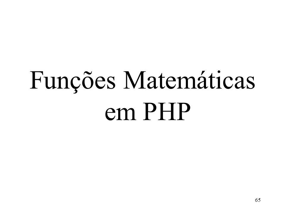 Funções Matemáticas em PHP 65