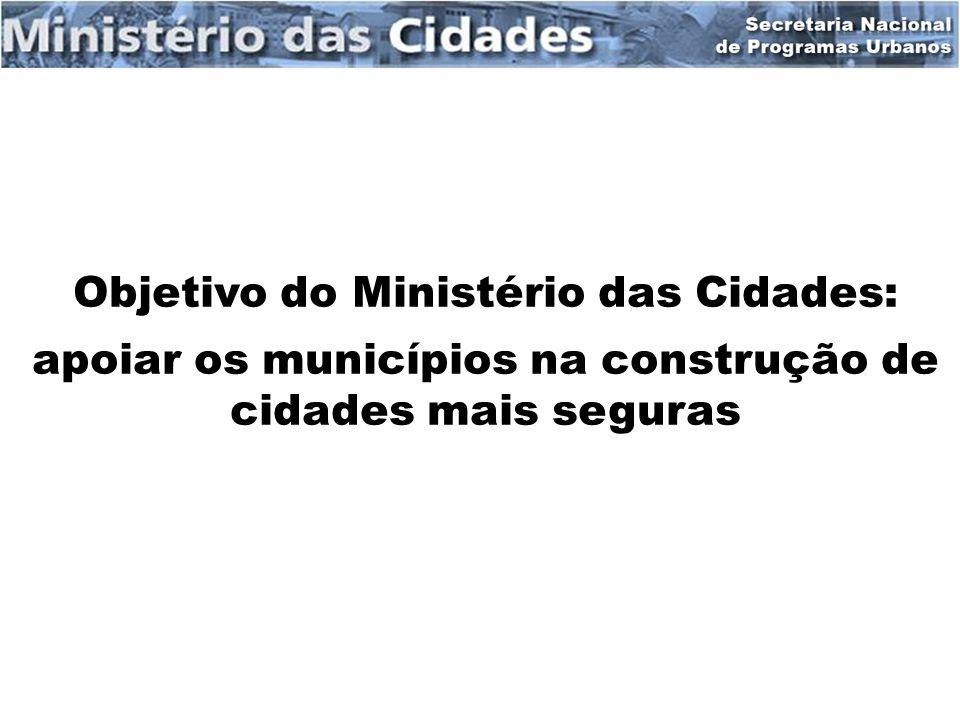 Objetivo do Ministério das Cidades: apoiar os municípios na construção de cidades mais seguras