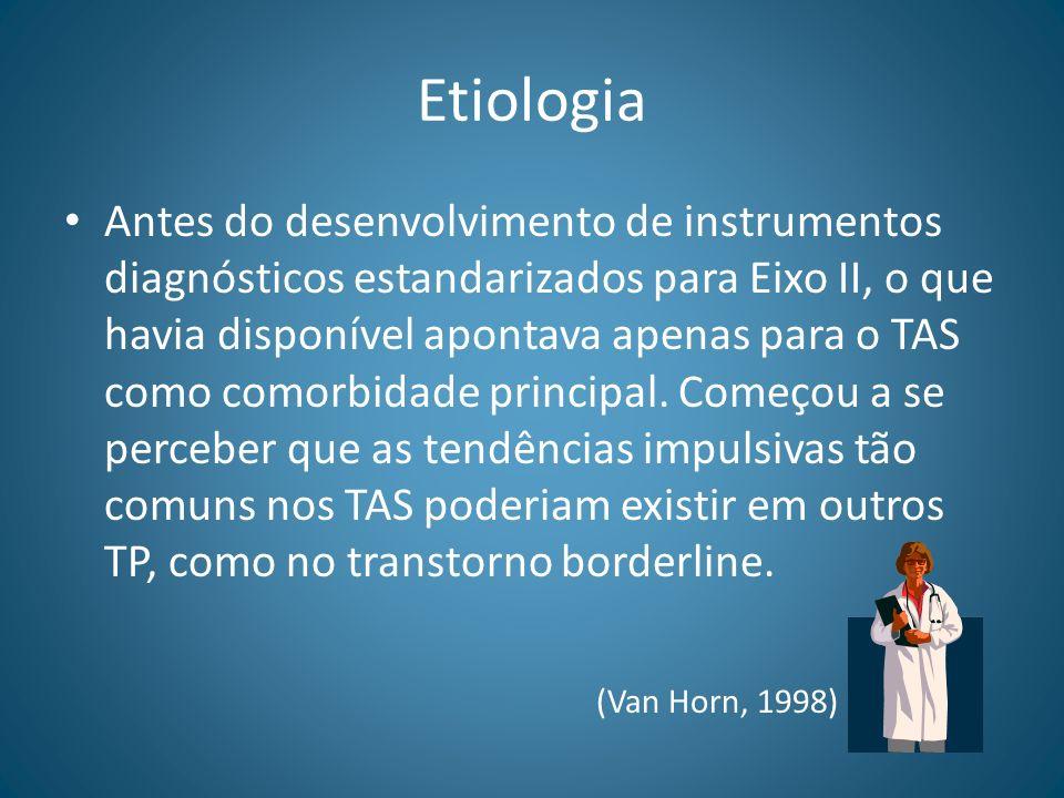 Etiologia Antes do desenvolvimento de instrumentos diagnósticos estandarizados para Eixo II, o que havia disponível apontava apenas para o TAS como co