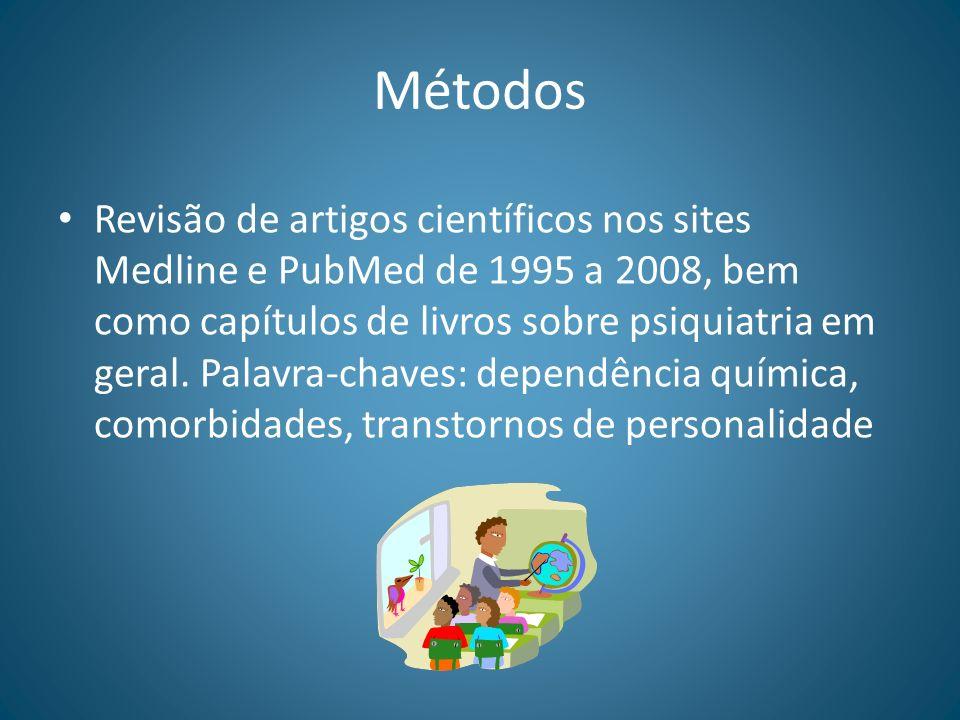 Métodos Revisão de artigos científicos nos sites Medline e PubMed de 1995 a 2008, bem como capítulos de livros sobre psiquiatria em geral. Palavra-cha