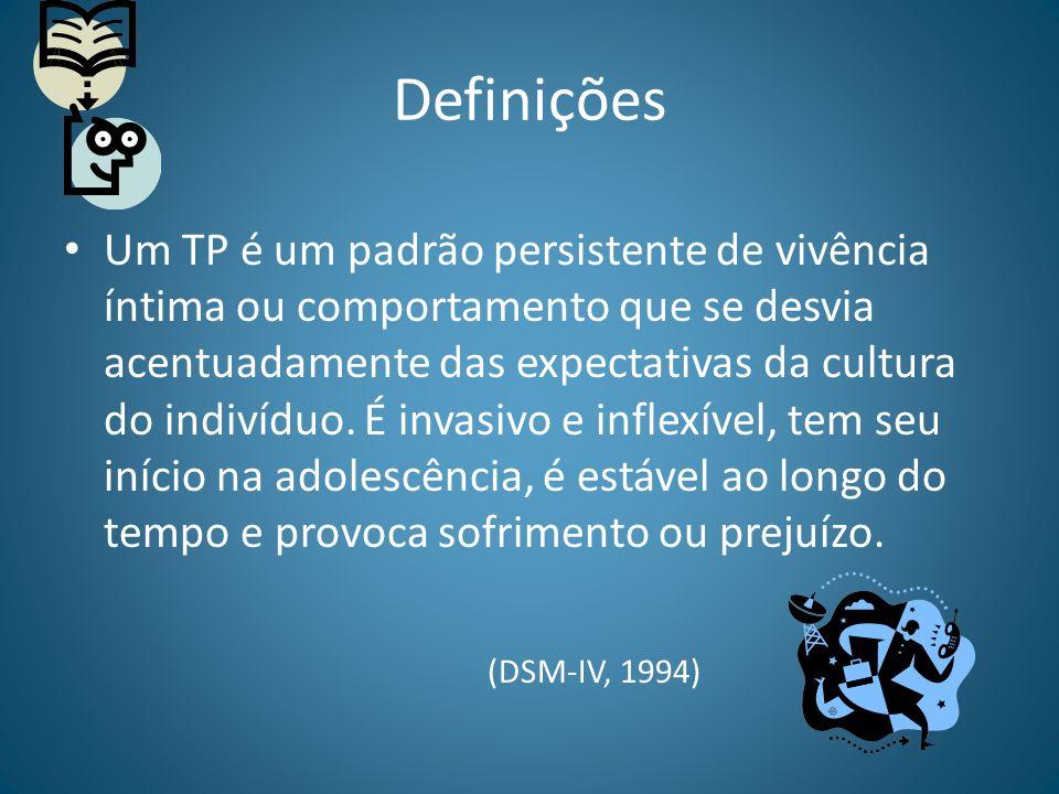 Definições Um TP é um padrão persistente de vivência íntima ou comportamento que se desvia acentuadamente das expectativas da cultura do indivíduo. É