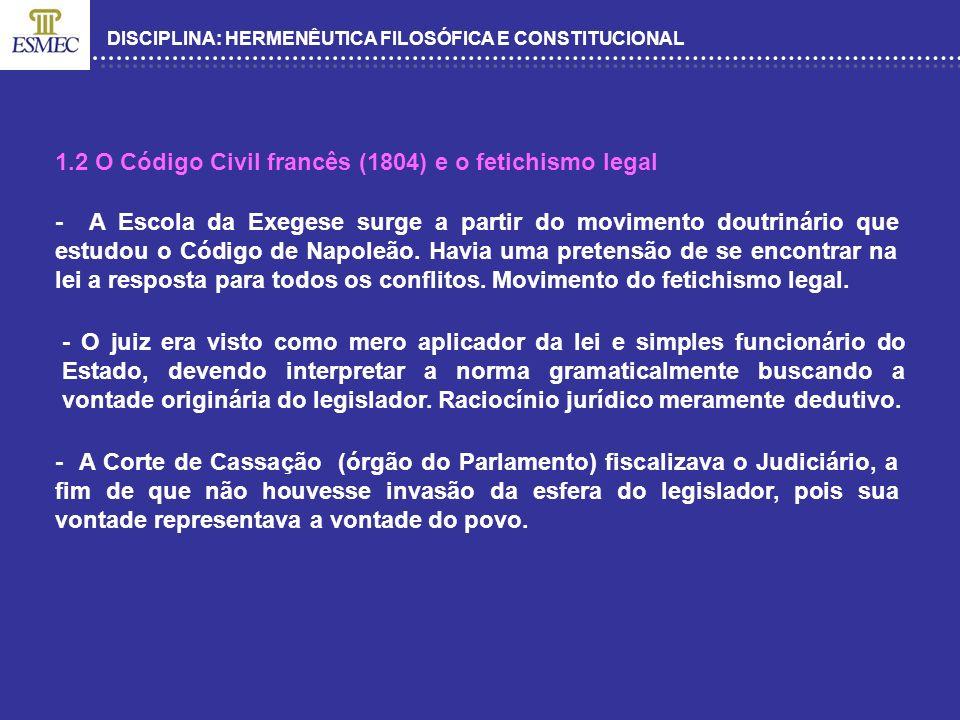 DISCIPLINA: HERMENÊUTICA FILOSÓFICA E CONSTITUCIONAL QUE ESCOLAS PODERIAM SER APLICADAS NO DIREITO BRASILEIRO ATUALMENTE.