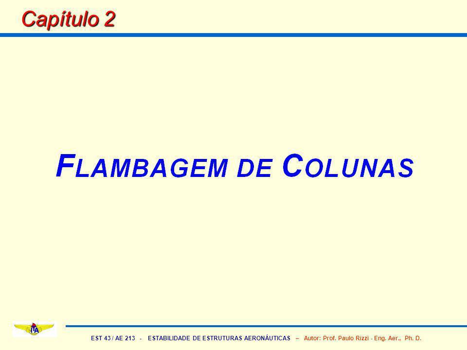EST 43 / AE 213 - ESTABILIDADE DE ESTRUTURAS AERONÁUTICAS – Autor: Prof. Paulo Rizzi - Eng. Aer., Ph. D. Capítulo 2