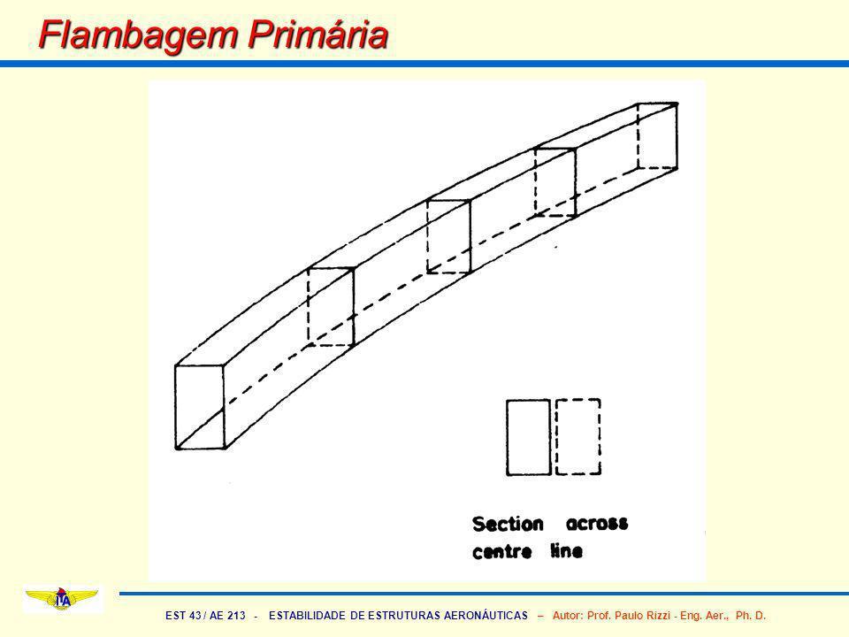 EST 43 / AE 213 - ESTABILIDADE DE ESTRUTURAS AERONÁUTICAS – Autor: Prof. Paulo Rizzi - Eng. Aer., Ph. D. Flambagem Primária