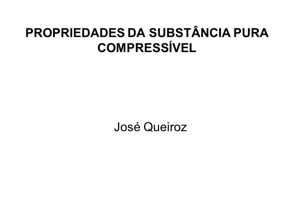 PROPRIEDADES DA SUBSTÂNCIA PURA COMPRESSÍVEL José Queiroz