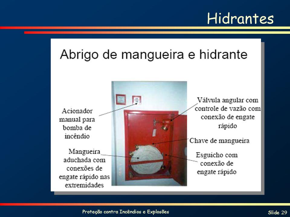 Proteção contra Incêndios e Explosões Slide 29 Hidrantes