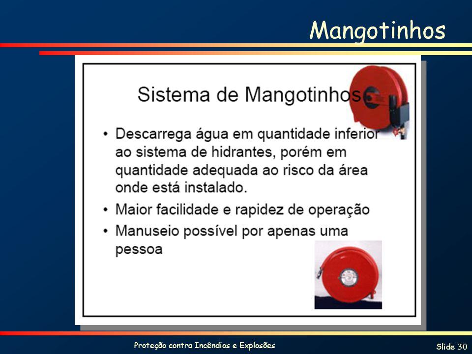 Proteção contra Incêndios e Explosões Slide 30 Mangotinhos