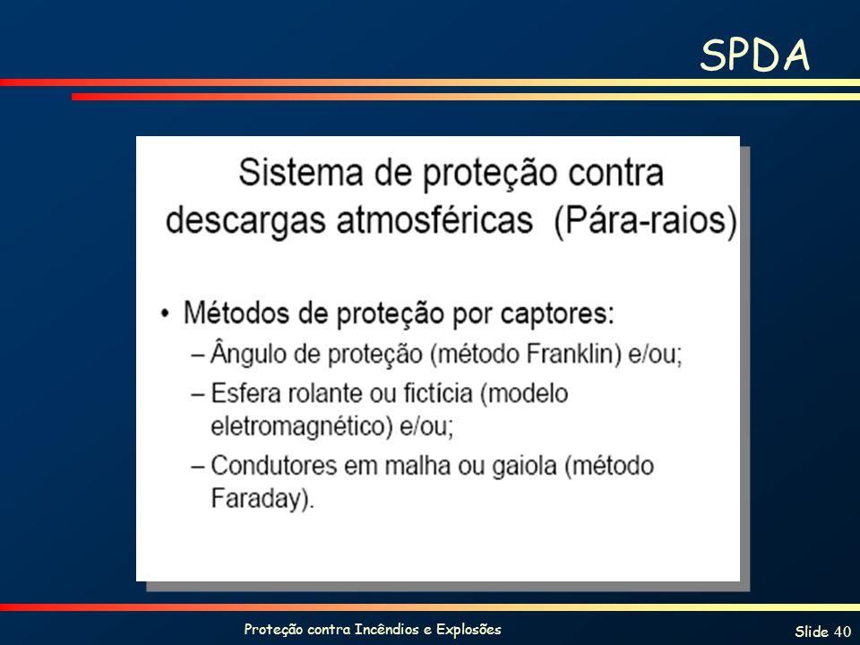 Proteção contra Incêndios e Explosões Slide 40 SPDA
