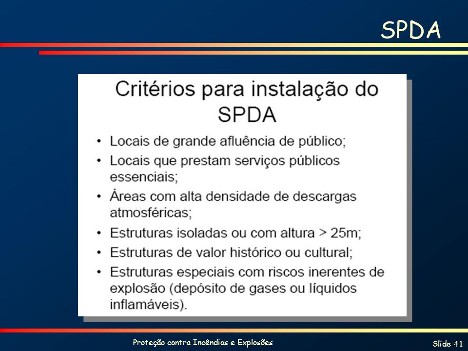 Proteção contra Incêndios e Explosões Slide 41 SPDA
