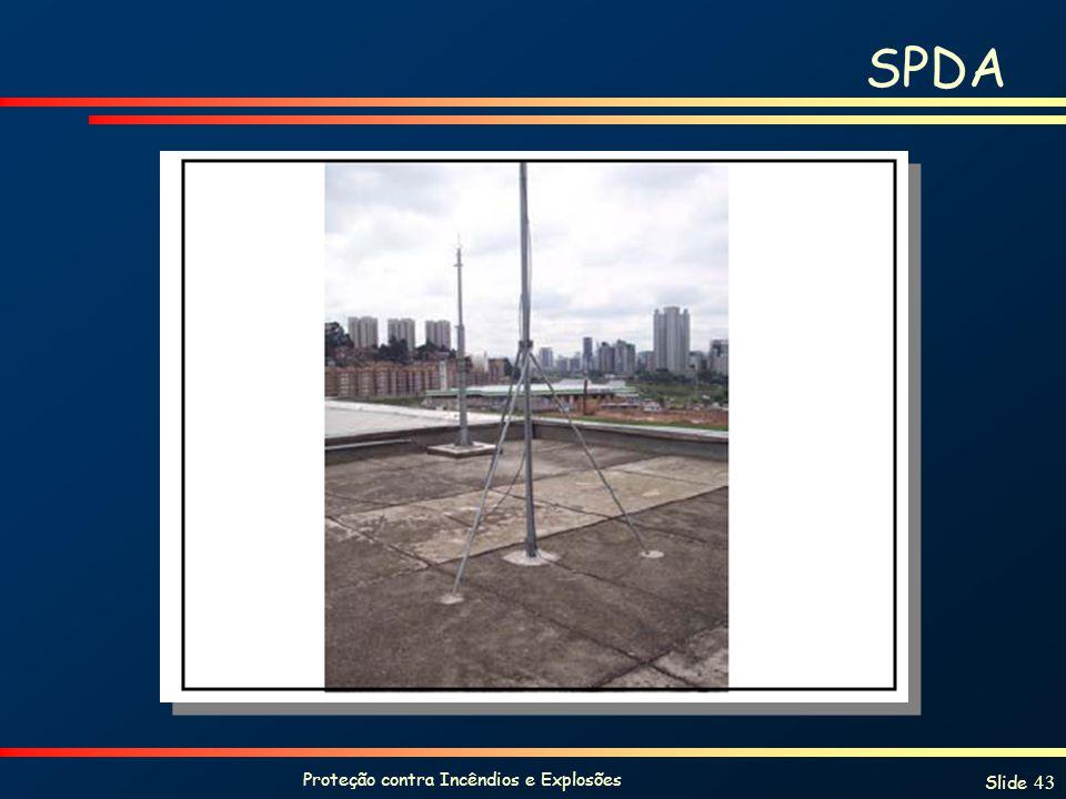 Proteção contra Incêndios e Explosões Slide 43 SPDA