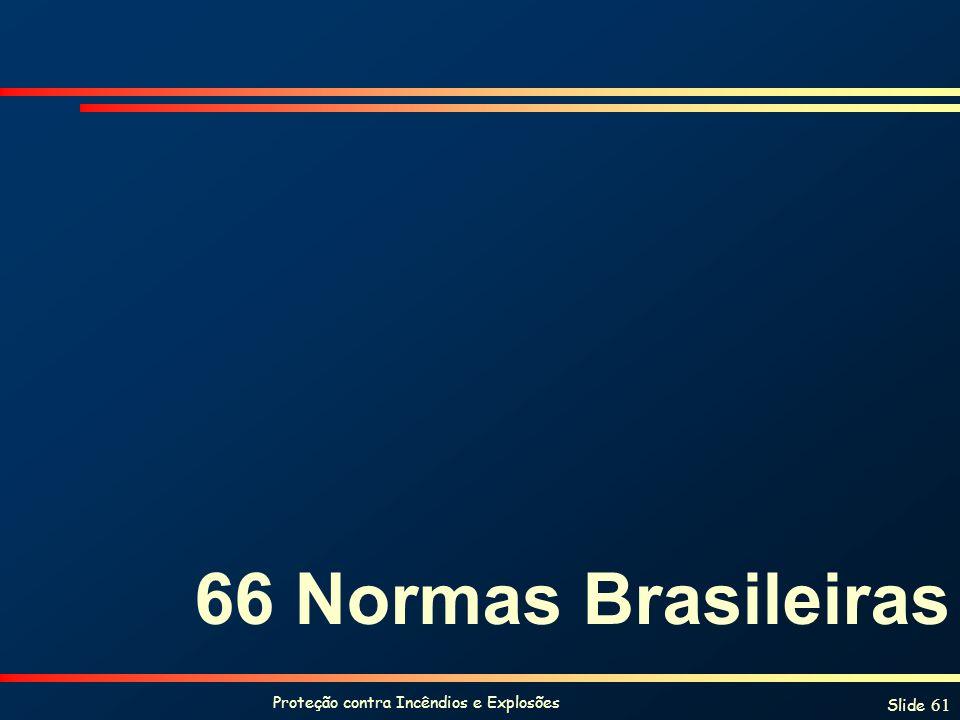 Proteção contra Incêndios e Explosões Slide 61 66 Normas Brasileiras