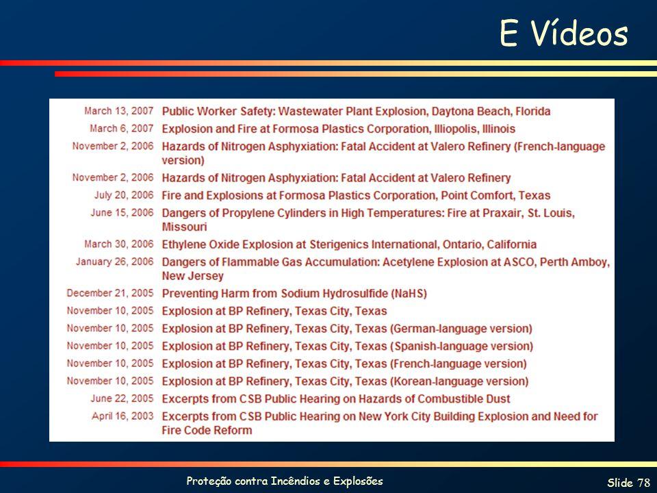 Proteção contra Incêndios e Explosões Slide 78 E Vídeos