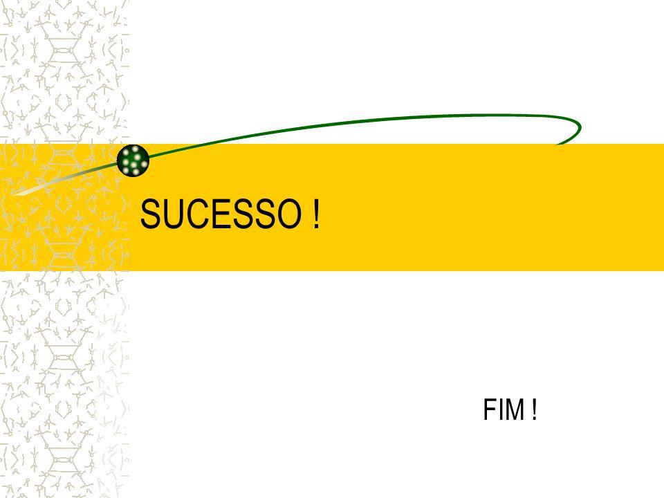 SUCESSO ! FIM !