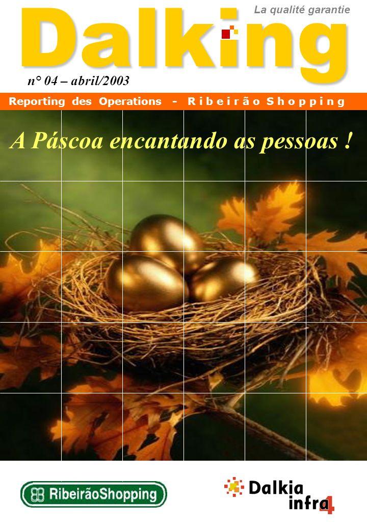 Dalking n° 04 – abril/2003 La qualité garantie A Páscoa encantando as pessoas ! Reporting des Operations - R i b e i r ã o S h o p p i n g