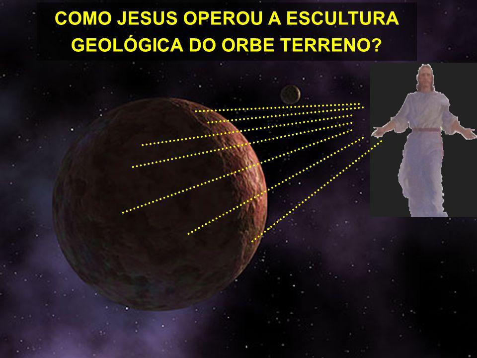 SOB A ORIENTAÇÃO DE JESUS ÁGUA SURGEM NA TERRA A CROSTA SOLIDIFICADA