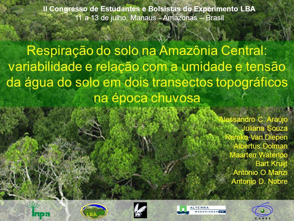 Respiração do solo na Amazônia Central: variabilidade e relação com a umidade e tensão da água do solo em dois transectos topográficos na época chuvos
