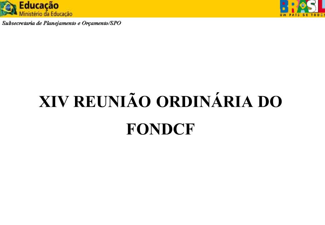 XIV REUNIÃO ORDINÁRIA DO FONDCF