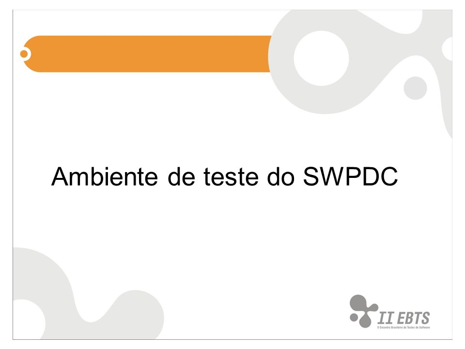 Ambiente de teste do SWPDC