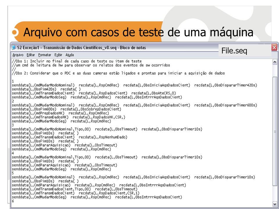 File.seq Arquivo com casos de teste de uma máquina