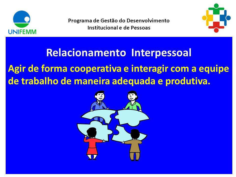Comunicação Procurar entender e se fazer entendido, emitindo, transmitindo e recebendo mensagens, dados e informações. Programa de Gestão do Desenvolv