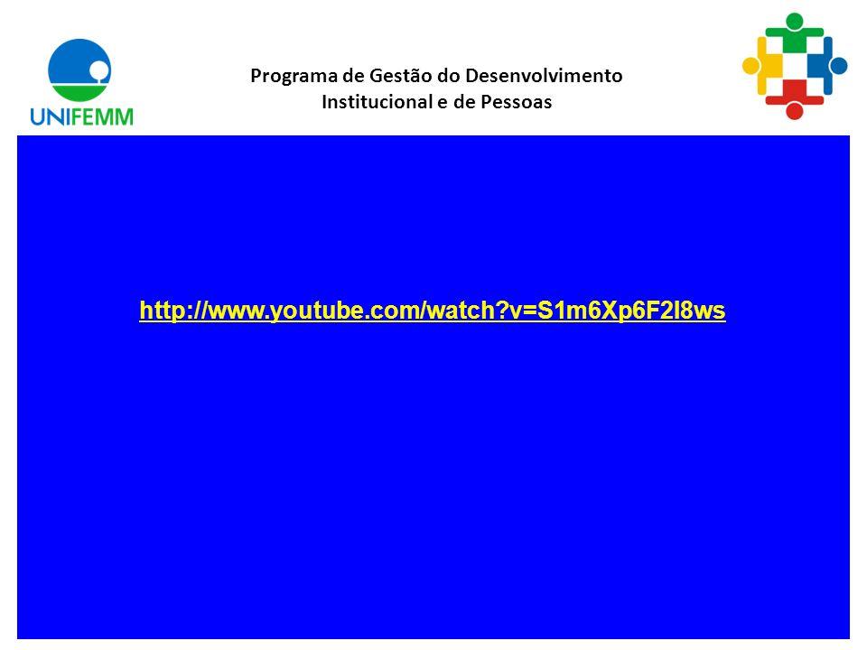 Comunicação Programa de Gestão do Desenvolvimento Institucional e de Pessoas