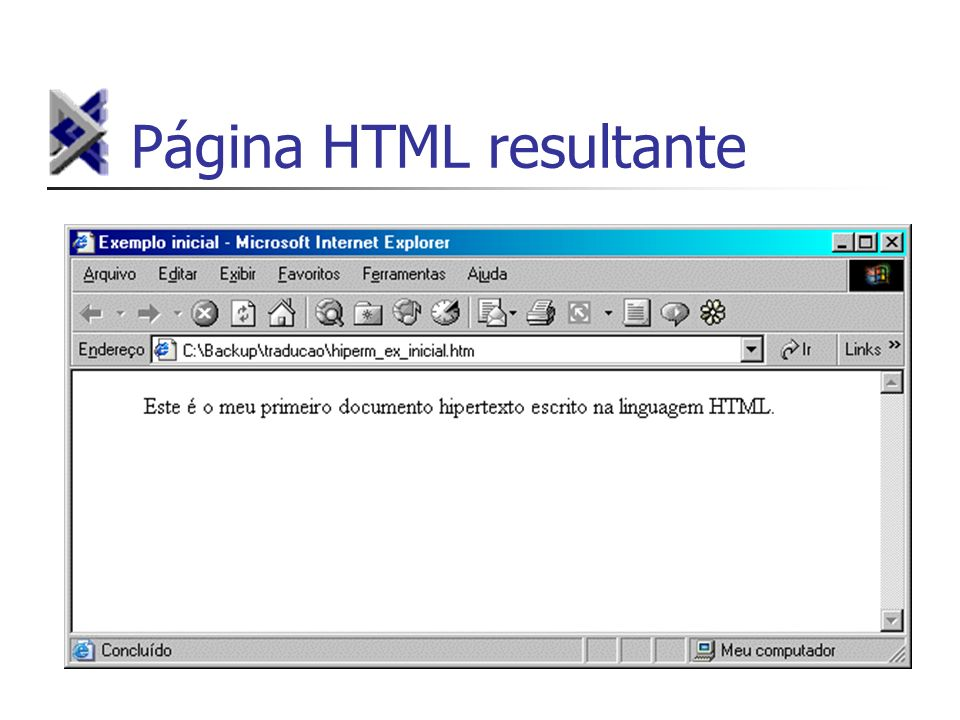 Página HTML resultante