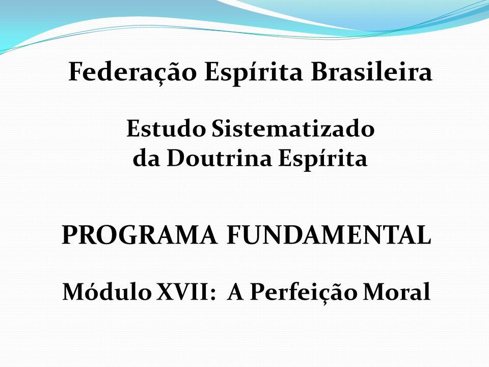 PROGRAMA FUNDAMENTAL Módulo XVII: A Perfeição Moral Federação Espírita Brasileira Estudo Sistematizado da Doutrina Espírita