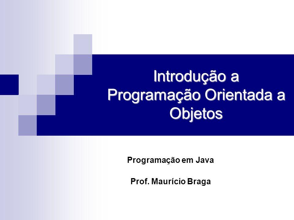 Introdução a Programação Orientada a Objetos Programação em Java Prof. Maurício Braga