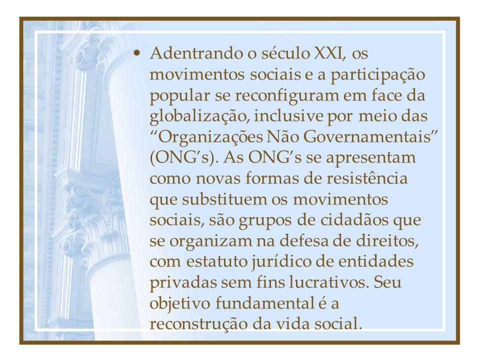 Nos anos 90, a deposição do então presidente Fernando Collor de Mello é resultado de intensas mobilizações da sociedade civil, onde se destacaram os caras-pintadas, cujo intuito era o estabelecimento da ética na política.
