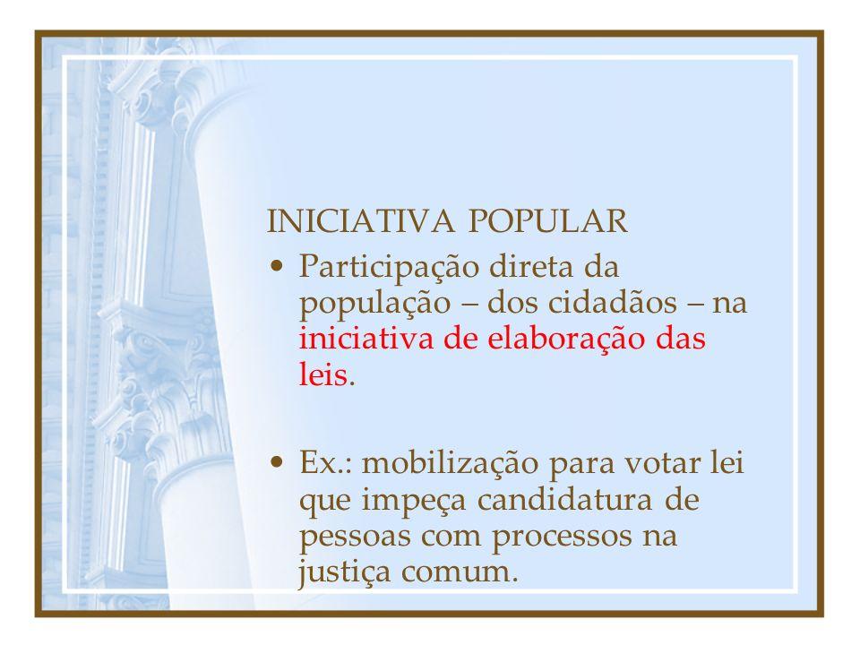 REFERENDO Consulta ao povo para ratificar (confirmar) ou não medida já tomada.