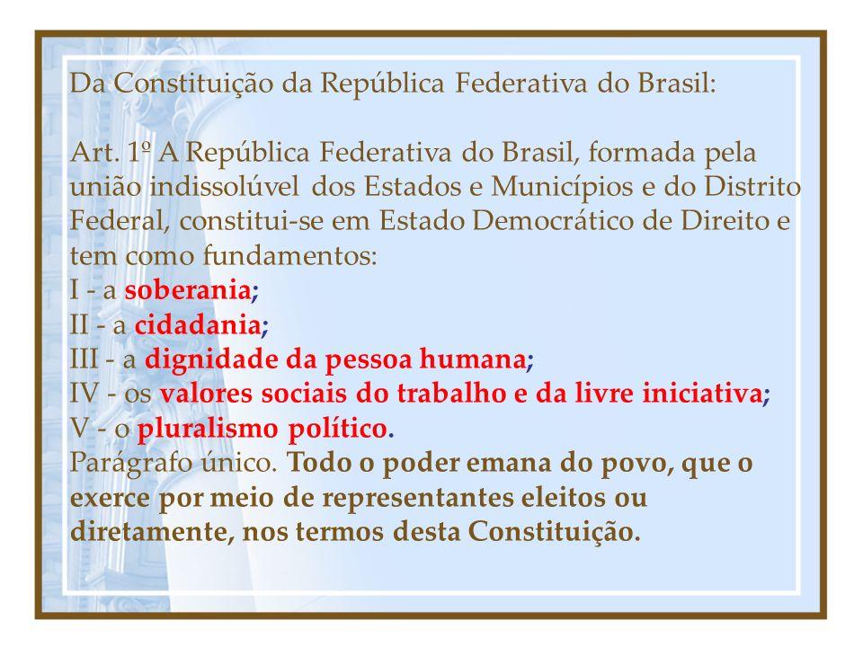 Da Constituição da República Federativa do Brasil: Art.