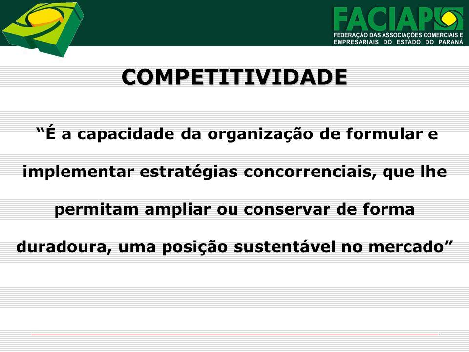 É a capacidade da organização de formular e implementar estratégias concorrenciais, que lhe permitam ampliar ou conservar de forma duradoura, uma posi