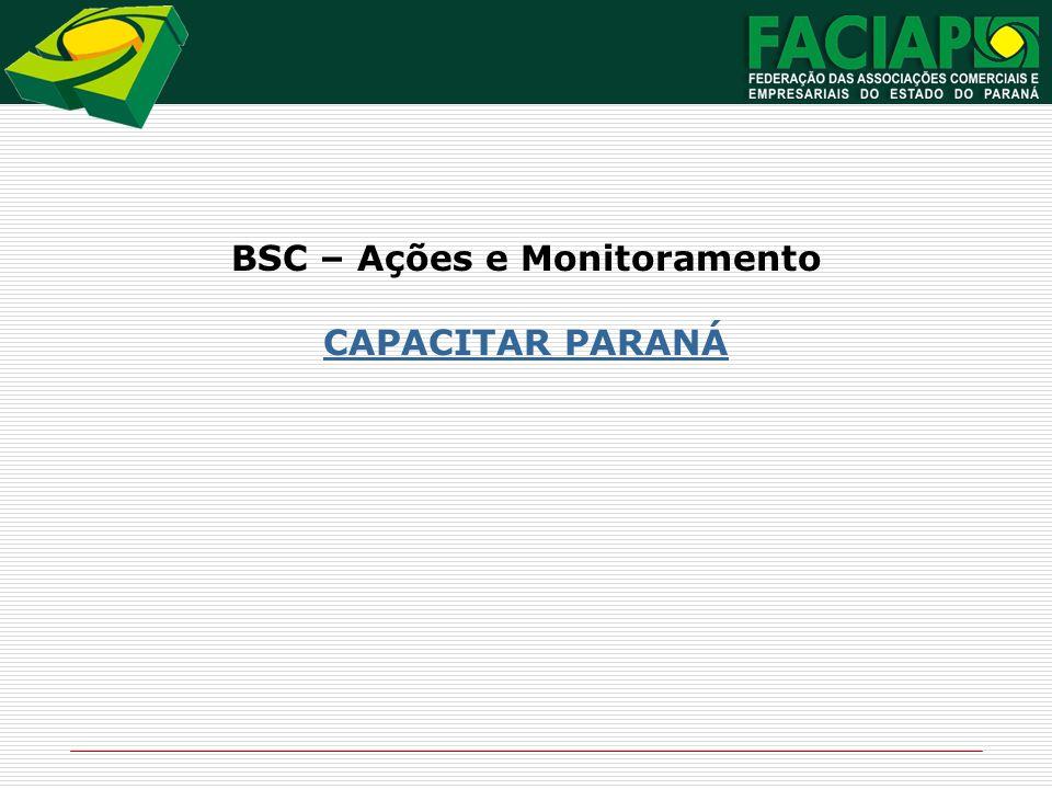 BSC – Ações e Monitoramento CAPACITAR PARANÁ