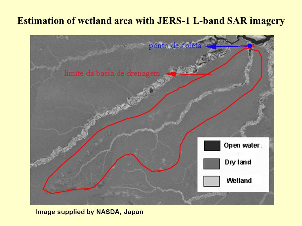 Estimation of wetland area with JERS-1 L-band SAR imagery Image supplied by NASDA, Japan