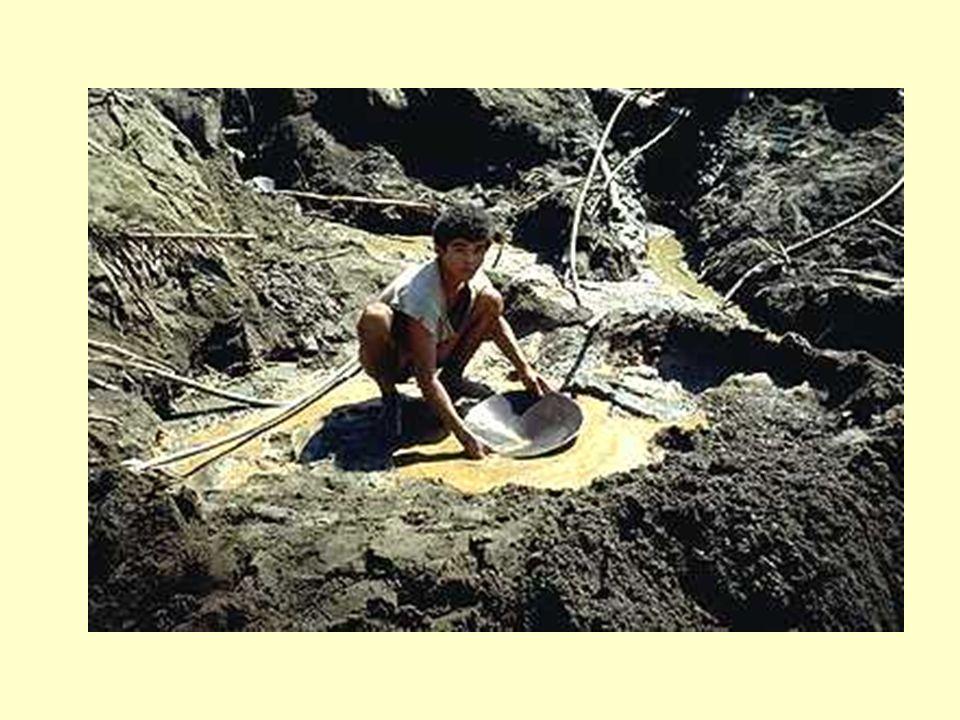 Como é que o mercúrio sai do solo e contamina o sistema fluvial? Podsolização?